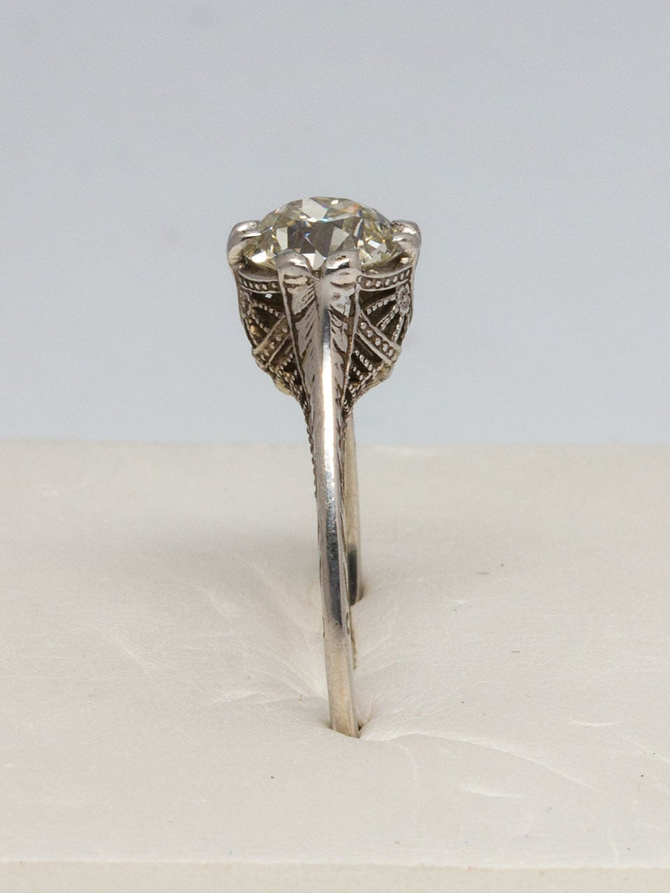 1920s Diamond Gold Engagement Ring 3