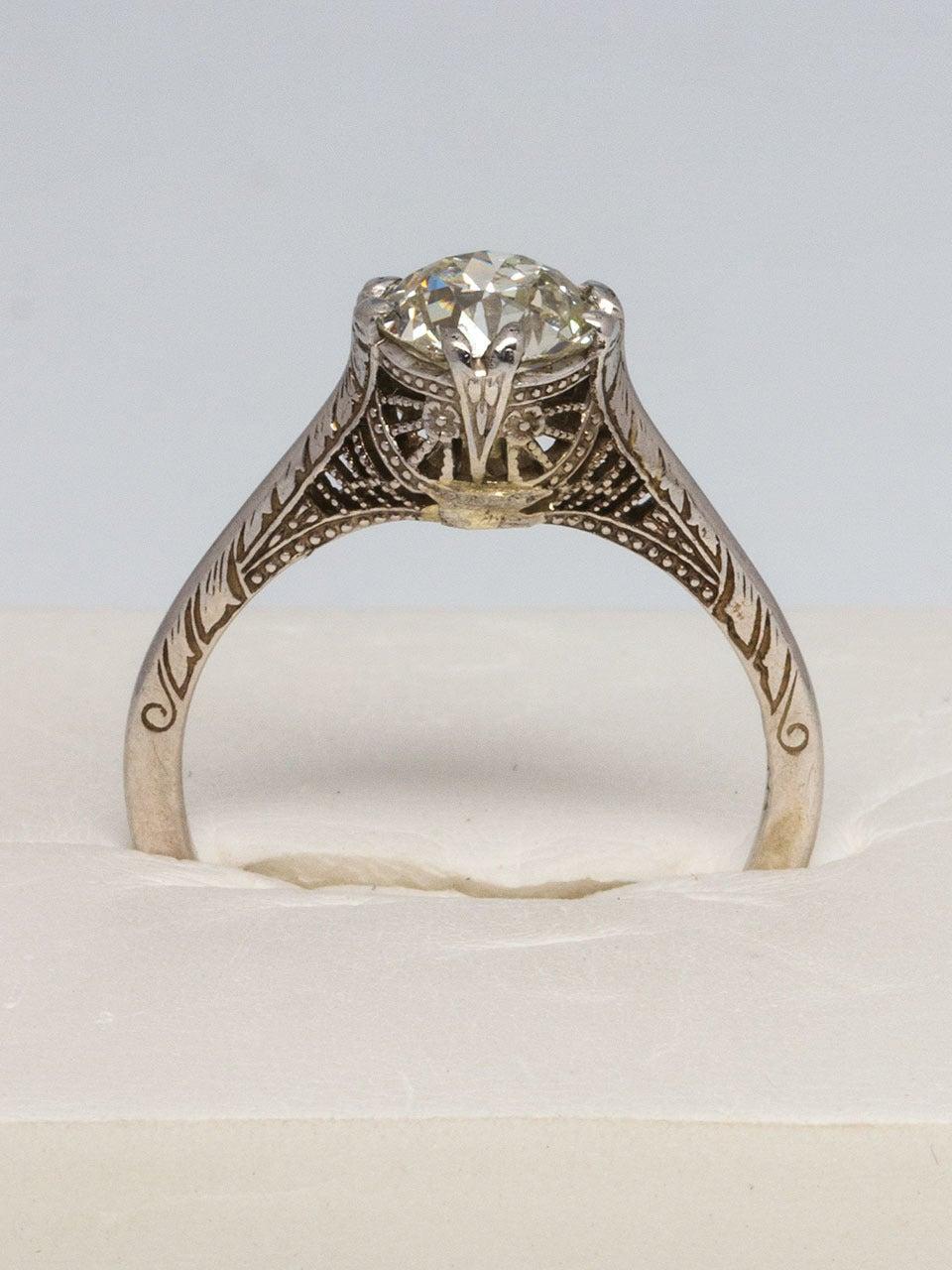 1920s Diamond Gold Engagement Ring 4