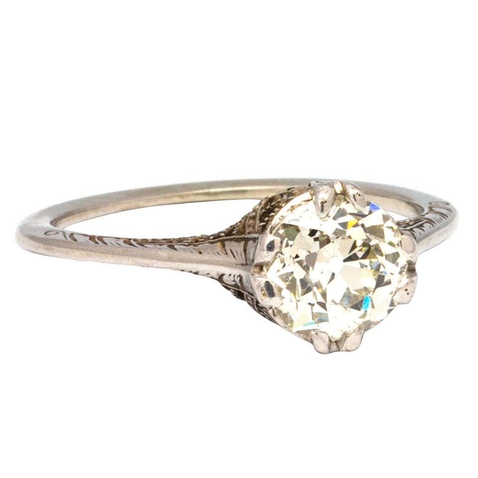 1920s Diamond Gold Engagement Ring 1