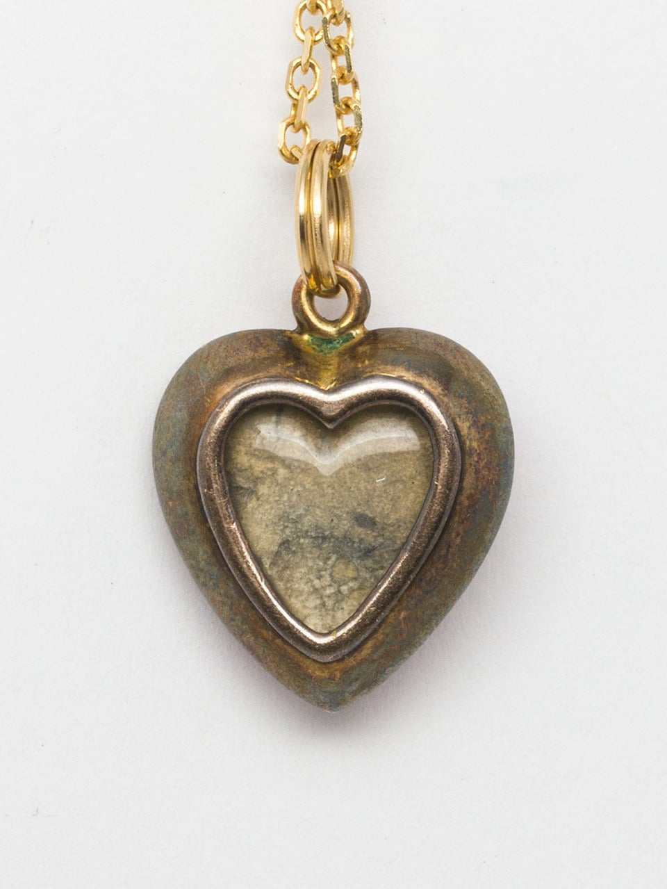 Victorian Era Enamel Gold Heart Locket 2
