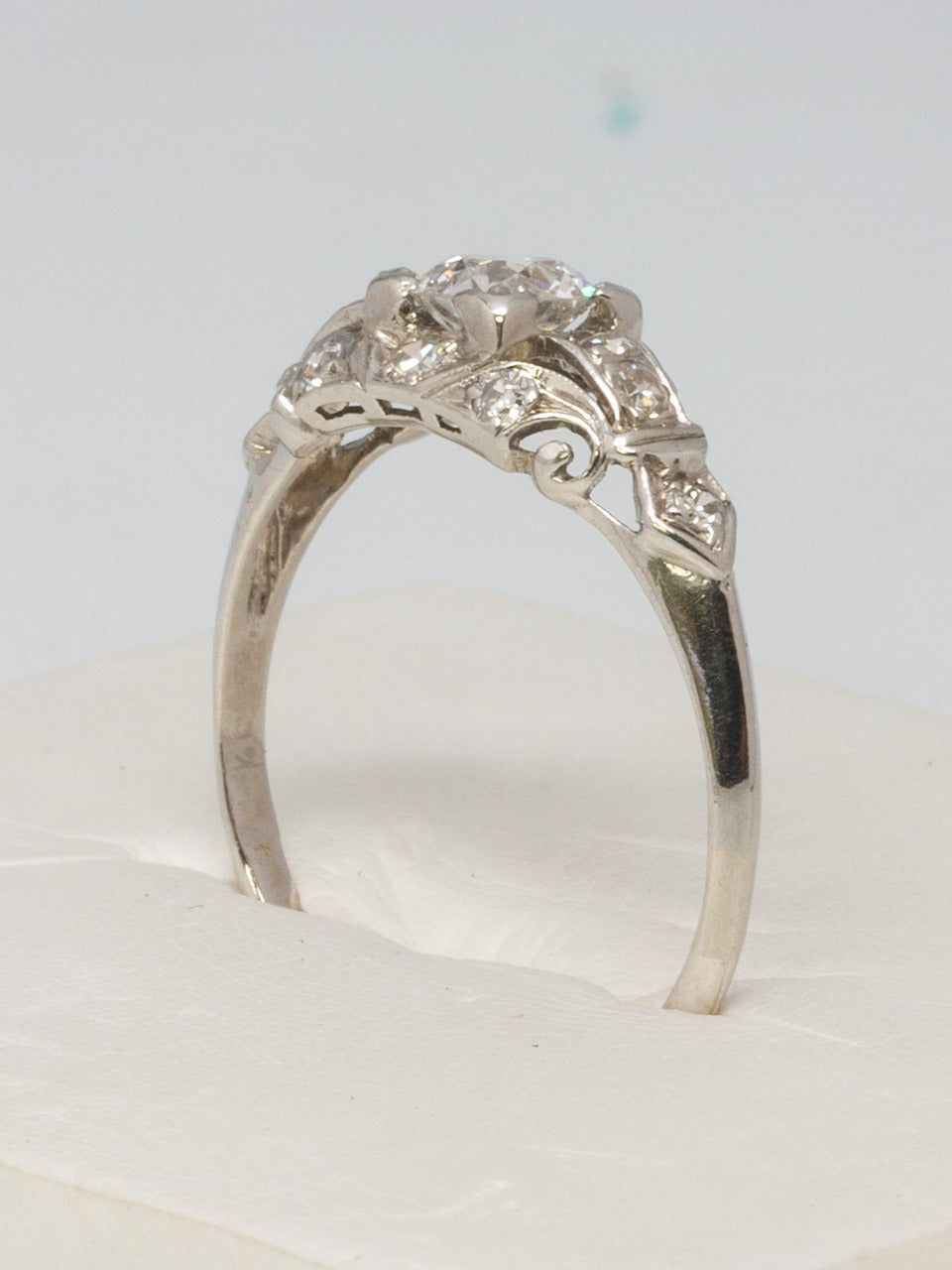 1930s White Gold And Diamond Engagement Ring 3