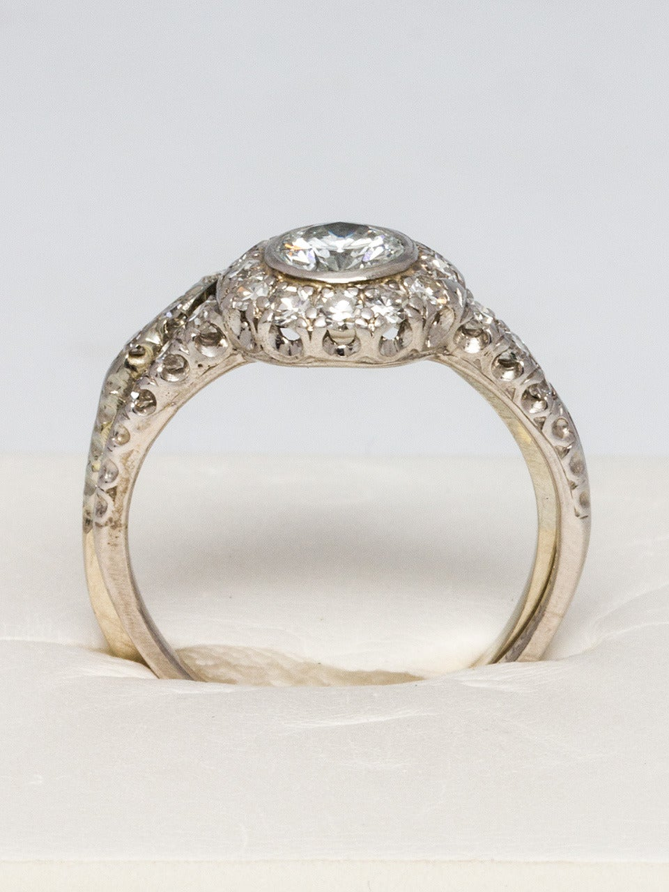 1960s Diamond Platinum Gold Wedding Ring Set at 1stdibs