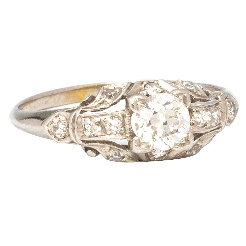 1930s White Gold And Diamond Engagement Ring 1