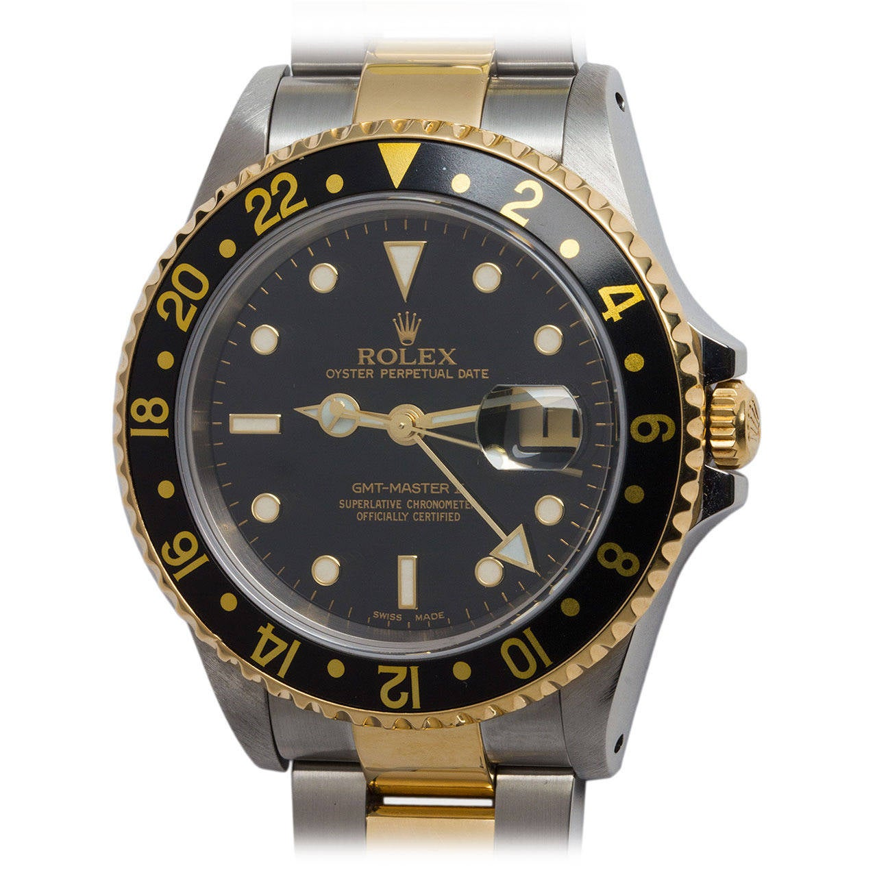rolex yellow gold stainless steel gmt master ii wristwatch. Black Bedroom Furniture Sets. Home Design Ideas