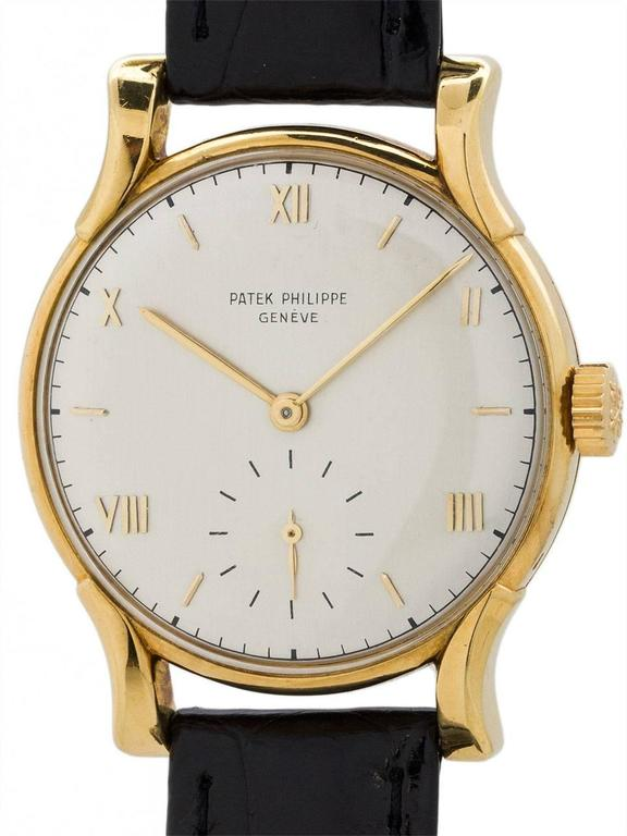 Patek Philippe Yellow Gold Wristwatch Ref 1596  For Sale