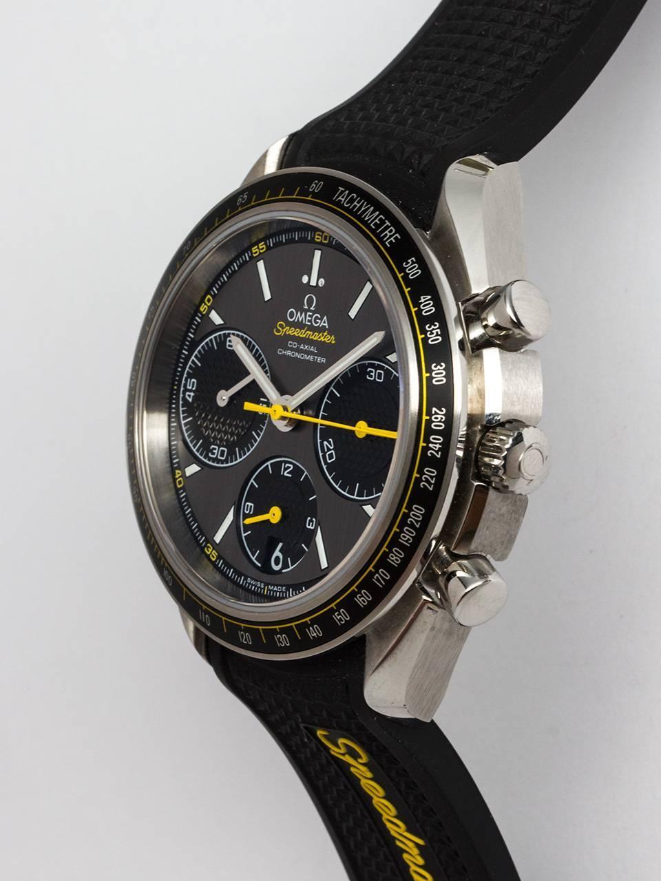 omega stainless steel speedmaster racing series wristwatch