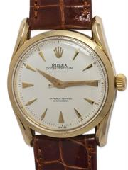 Rolex Yellow Gold Bombe Wristwatch Ref 6292