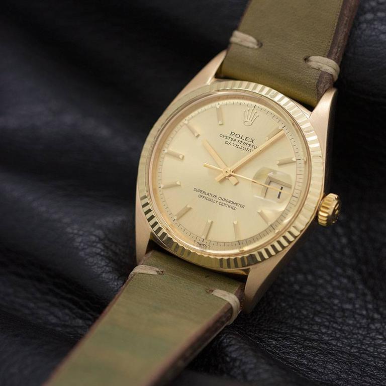Rolex Yellow Gold Datejust Wristwatch Ref 1601 5