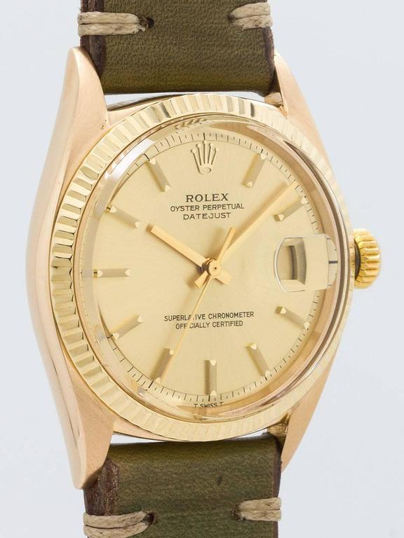 Rolex Yellow Gold Datejust Wristwatch Ref 1601 2