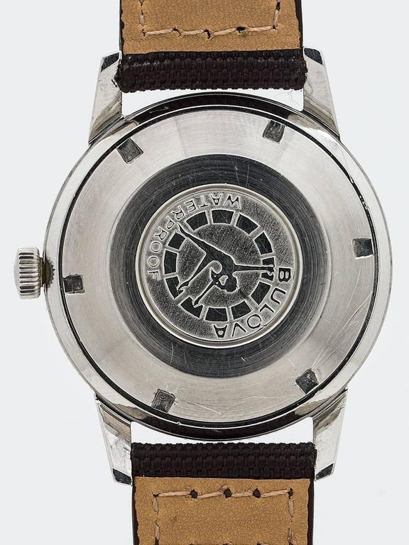Women's or Men's Bulova Stainless Steel Diver's Wristwatch Ref 386-1