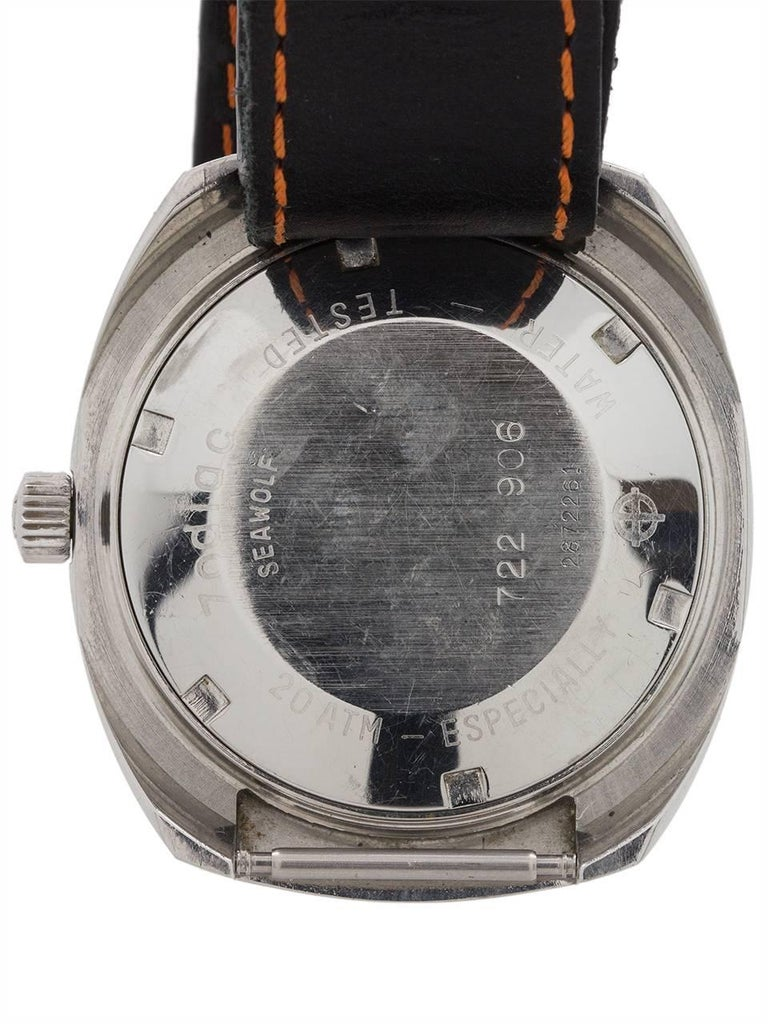Men's Zodiac Stainless Steel Seawolf Diver's Automatic Wristwatch, circa 1970s For Sale