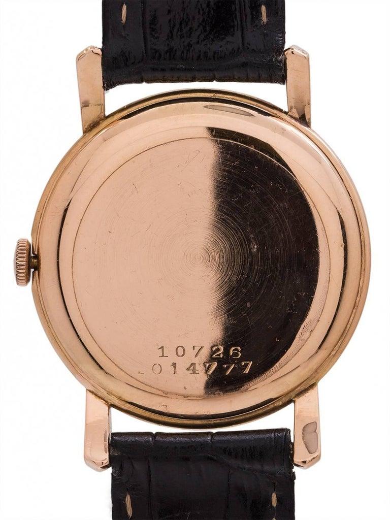Golden Universal Tarot: Universal Geneve Rose Gold Manual Wristwatch, Circa 1950s