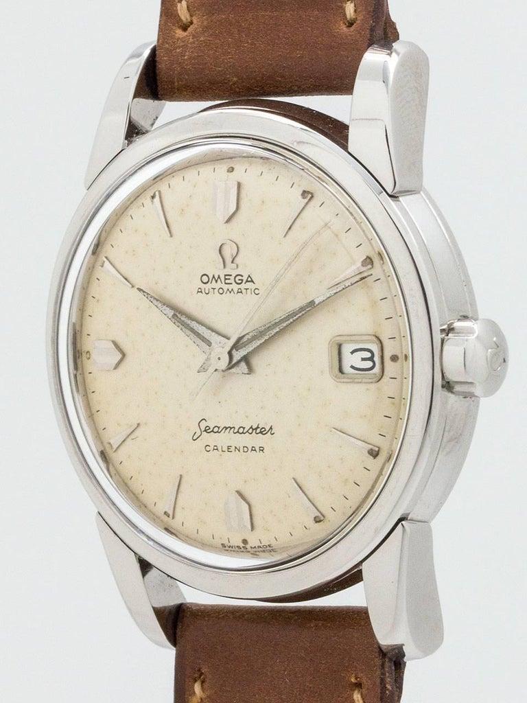 Omega Seamaster Calendar Vintage : Omega stainless steel seamaster calendar automatic