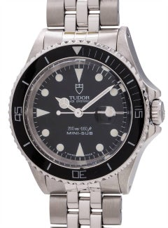 Tudor Stainless Steel Mini-Sub ref 94400 circa 1987