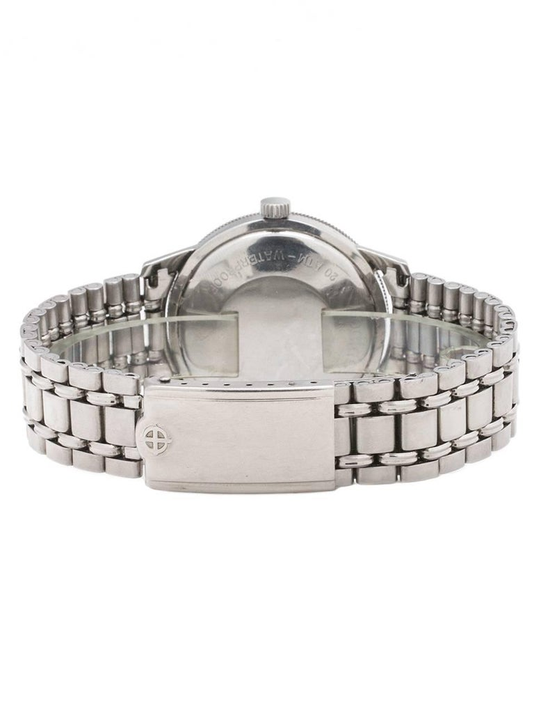 Men's Zodiac Stainless Steel Aerospace GMT Bracelet self winding wristwatch, c1960s For Sale