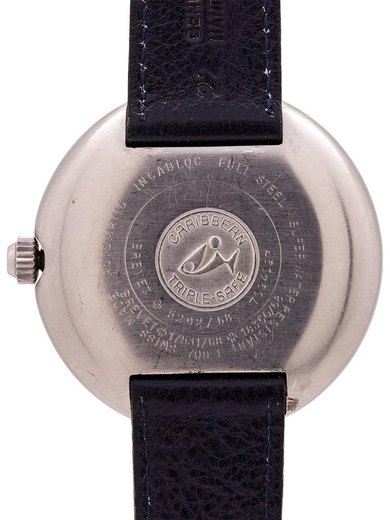 Men's Aquadive stainless steel 1000 self winding wristwatch, circa 1960s For Sale
