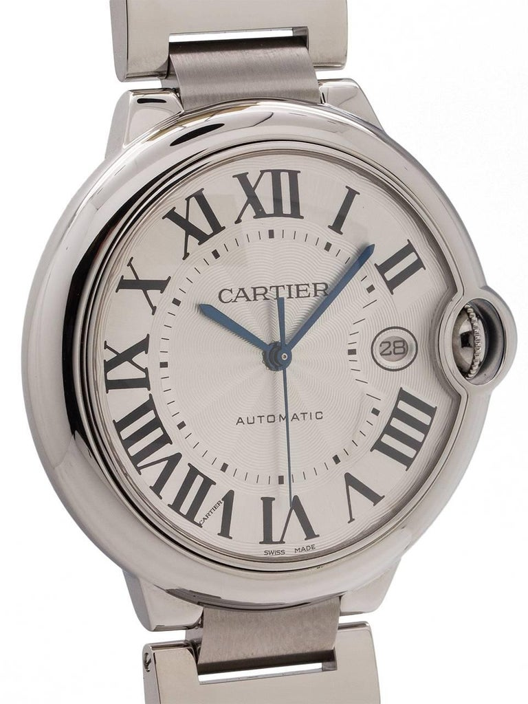 Cartier Stainless Steel Ballon Bleu self winding wristwatch, circa 2000s In Excellent Condition For Sale In West Hollywood, CA