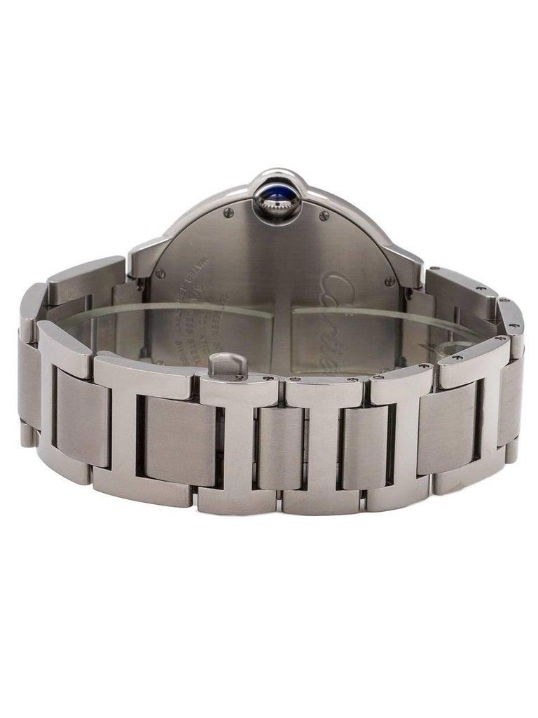 Men's Cartier Stainless Steel Ballon Bleu self winding wristwatch, circa 2000s For Sale