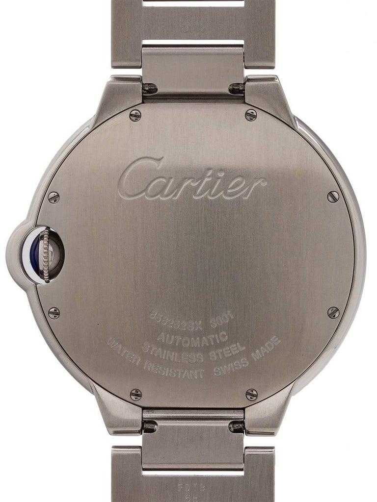 Cartier Stainless Steel Ballon Bleu self winding wristwatch, circa 2000s For Sale 1