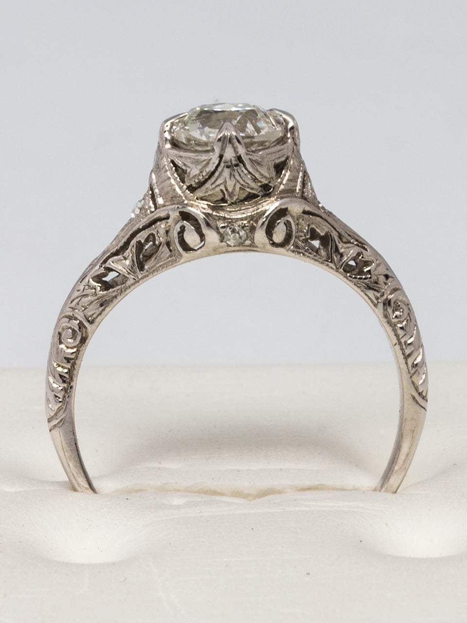 1920s Diamond Platinum Engagement Ring At 1stdibs