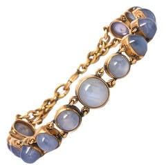 1960s Sapphire Gold Bracelet