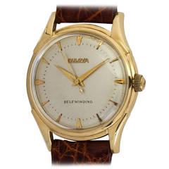 Bulova Yellow Gold Self Winding Automatic Wristwatch