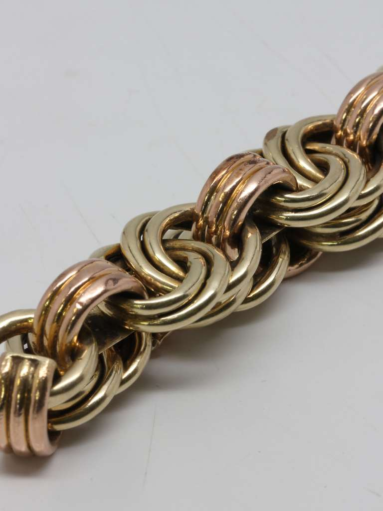 Mid Century Yellow and Rose Gold Bracelet 2