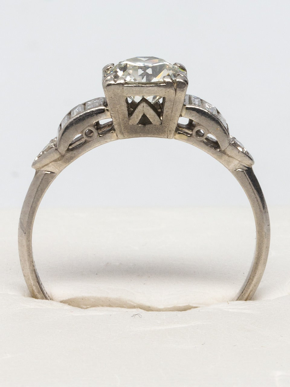 1930s Platinum And Diamond Engagement Ring For Sale At 1stdibs