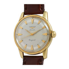 Longines Yellow Gold Conquest Wristwatch circa 1960s