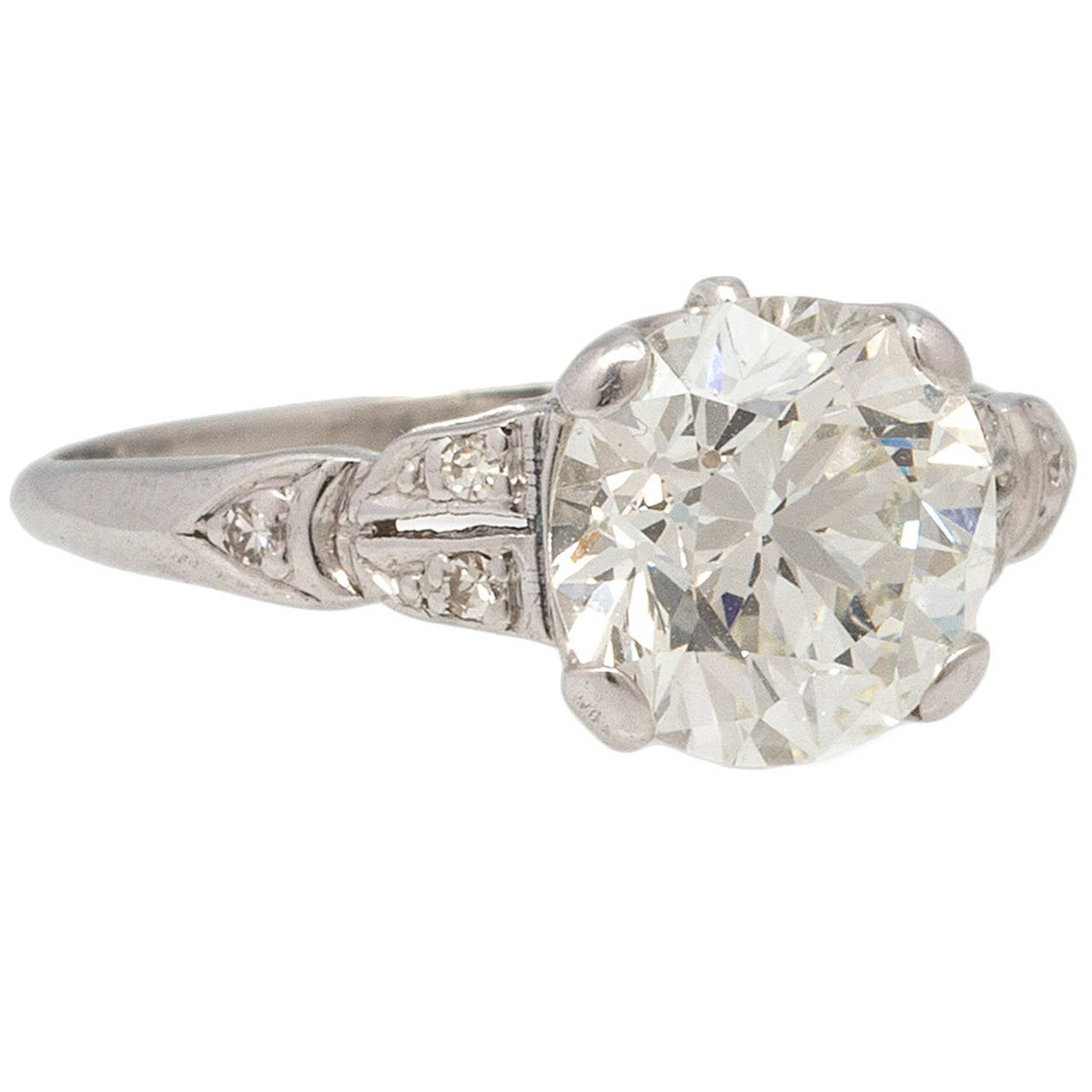 Vintage Engagement Ring Platinum 2.05ct I/VS2 circa 1930s ...