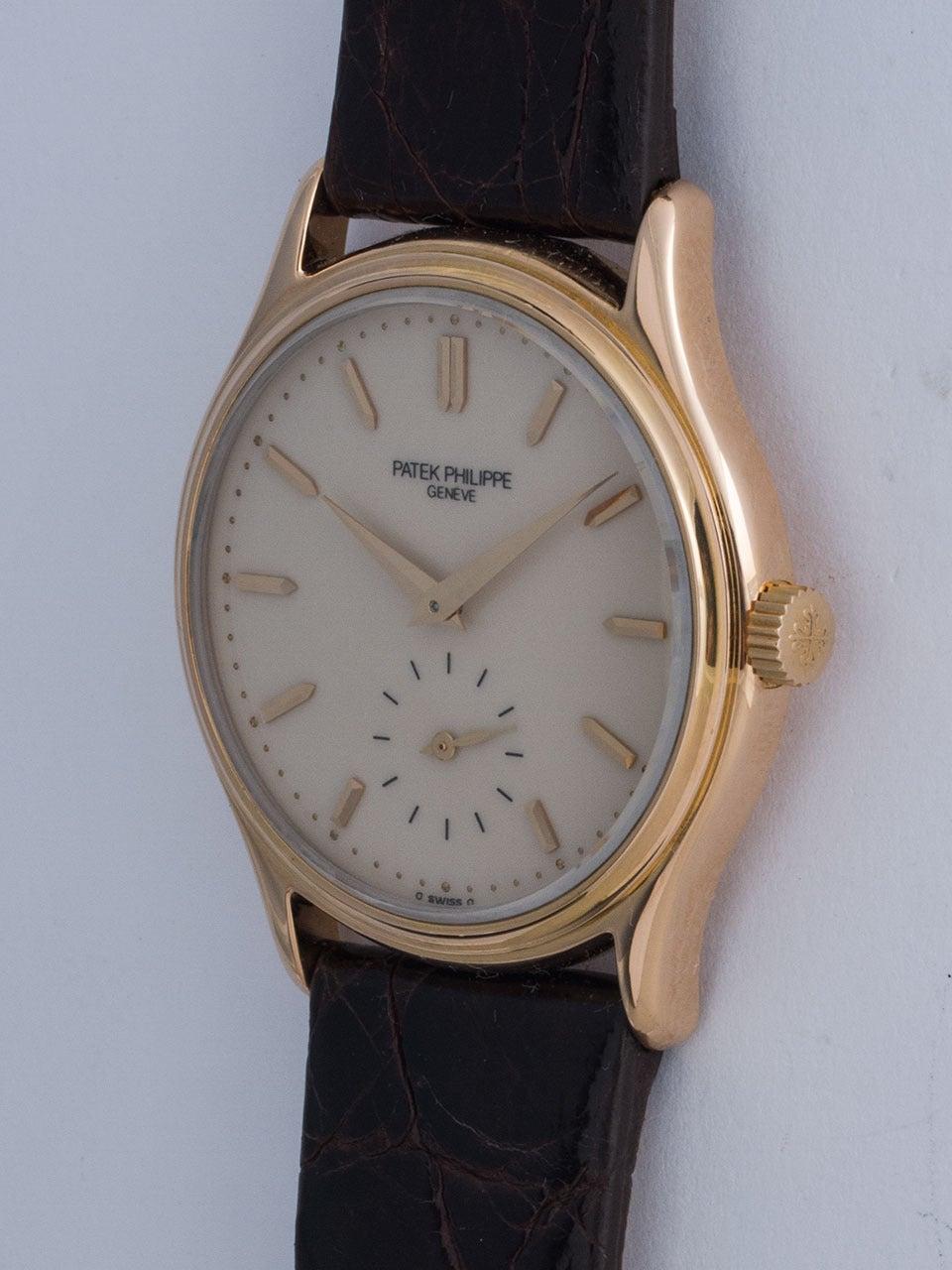 Patek Philippe Rose Gold Wristwatch Ref 3923 3