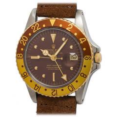 Rolex Yellow Gold Stainless Steel GMT-Master Wristwatch Ref 1675