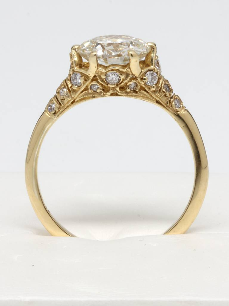 edwardian style gold and diamond engagement ring at 1stdibs