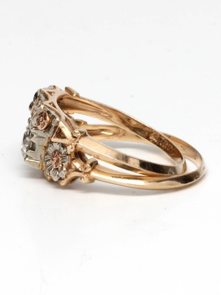 1940s yellow white and gold wedding ring set at 1stdibs