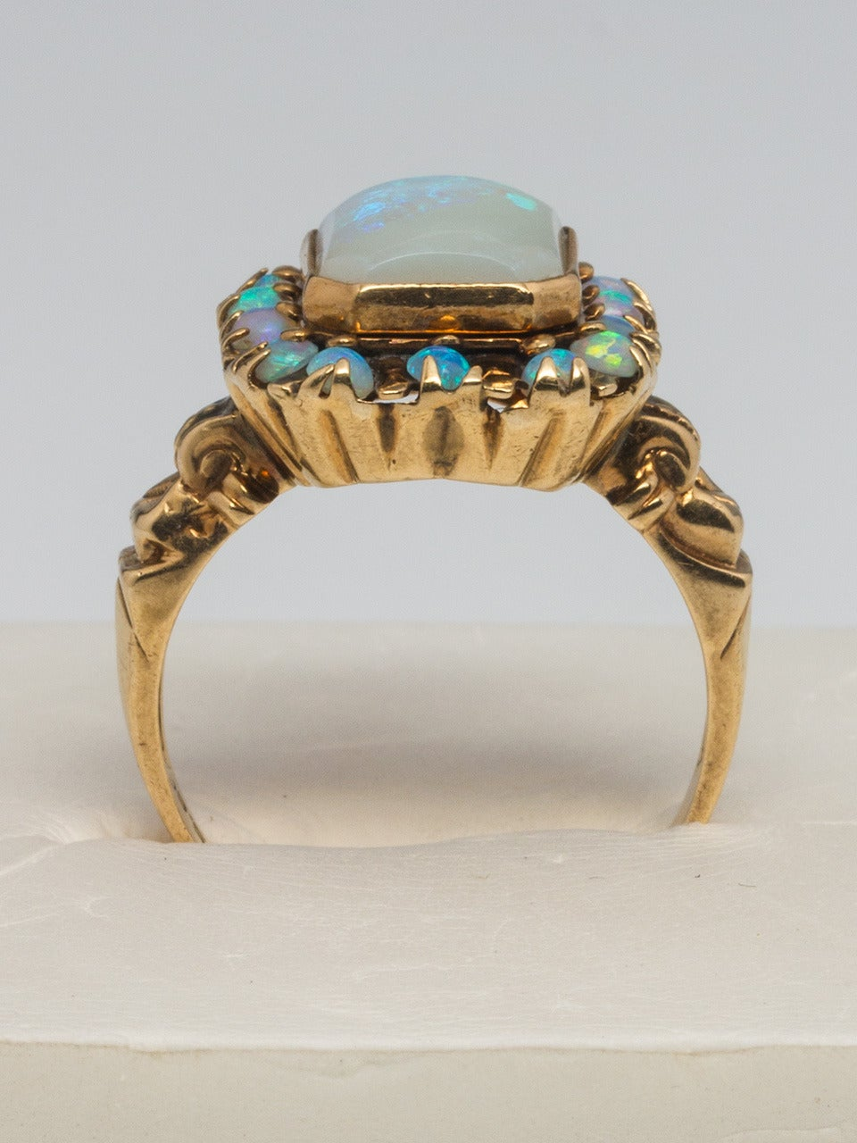 Victorian Opal Yellow Gold Ring 5