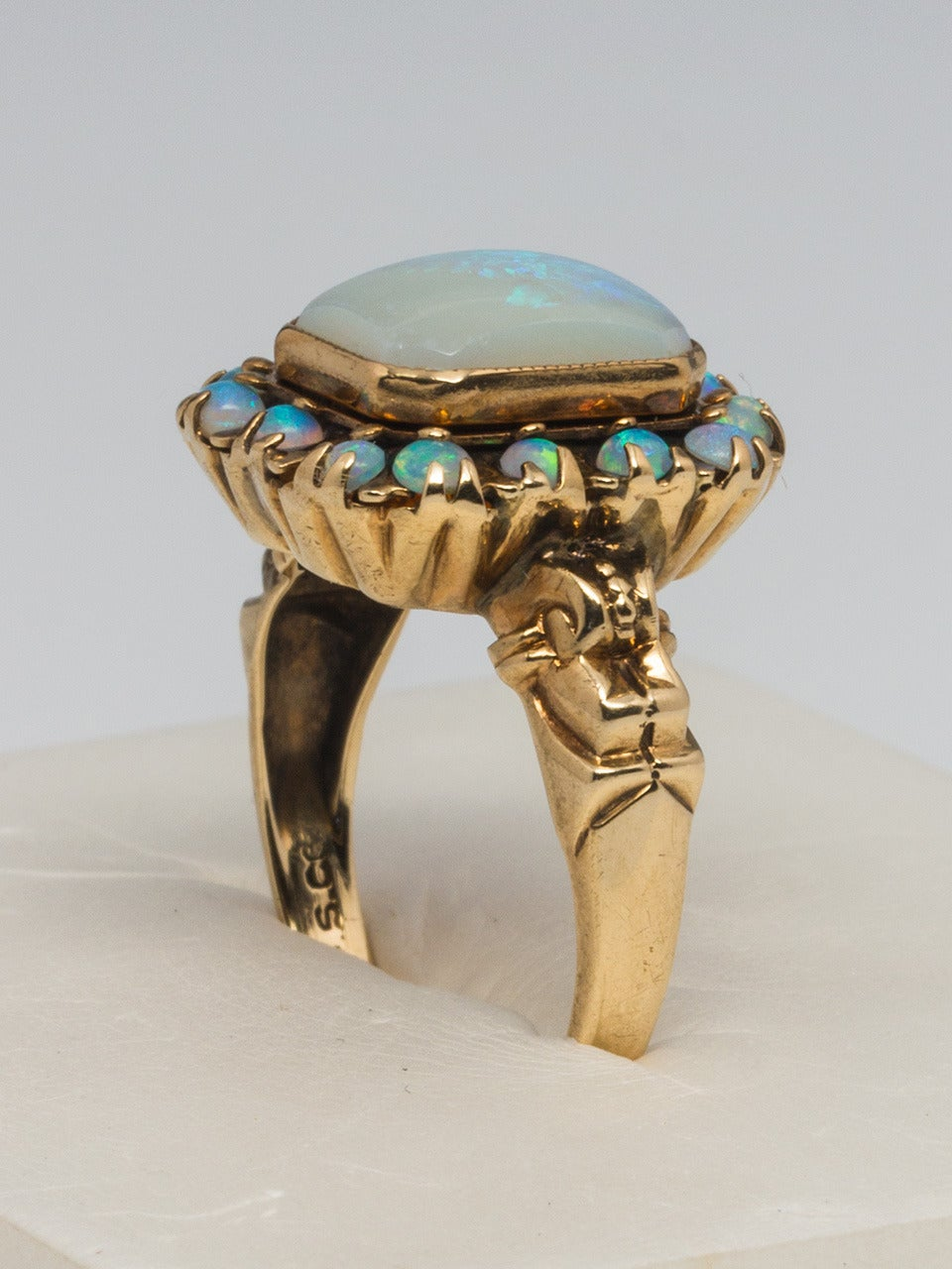 Victorian Opal Yellow Gold Ring 4