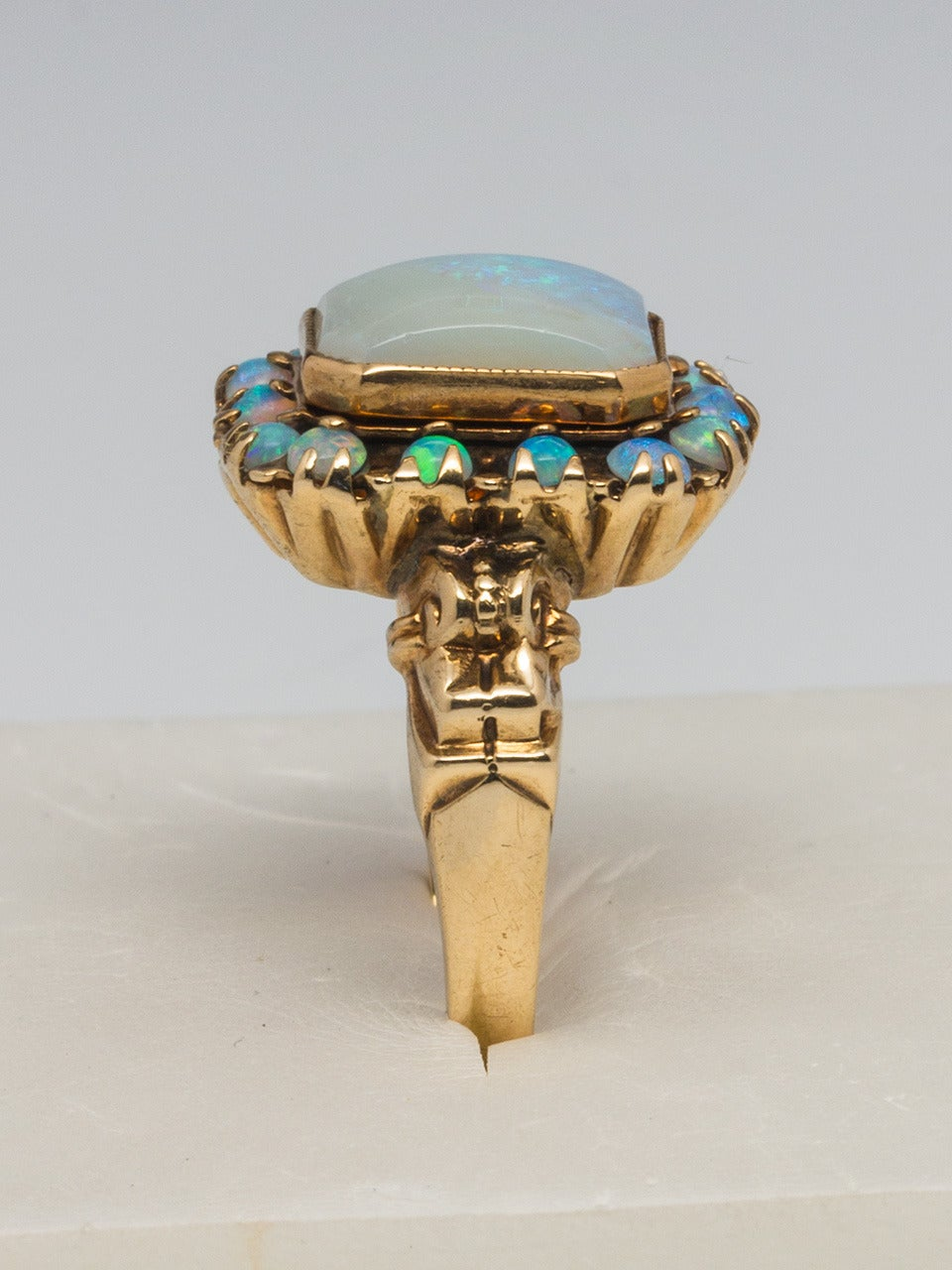 Victorian Opal Yellow Gold Ring 3