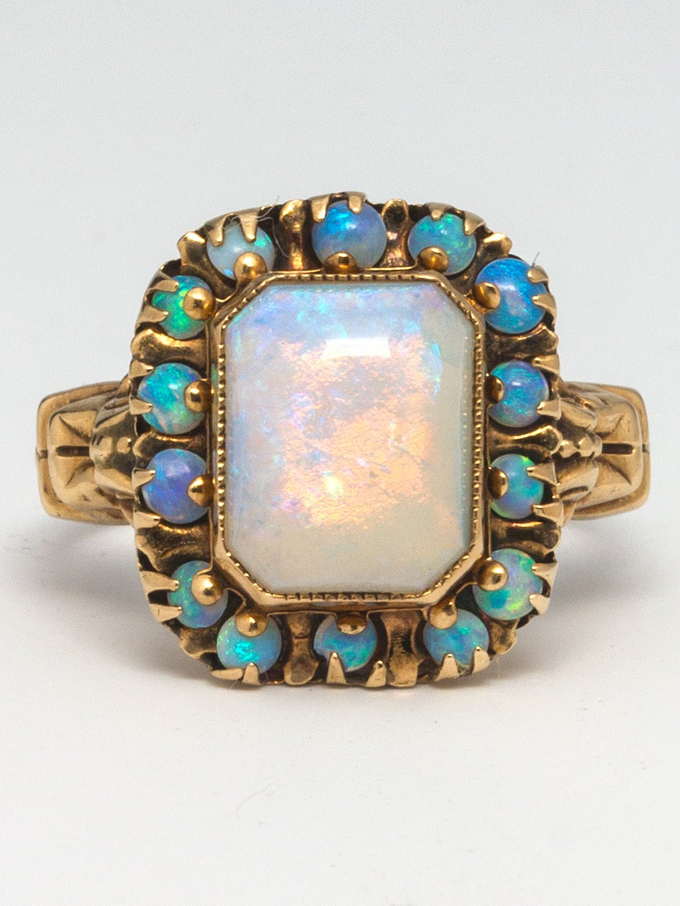 Victorian Opal Yellow Gold Ring 2