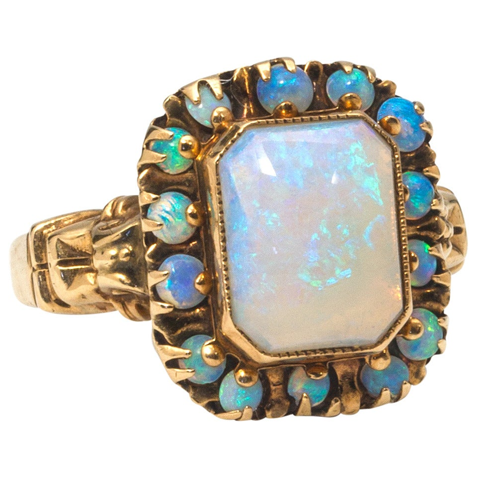 opal yellow gold ring at 1stdibs