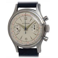 Wittnauer Stainless Steel Chronograph Wristwatch circa 1950s