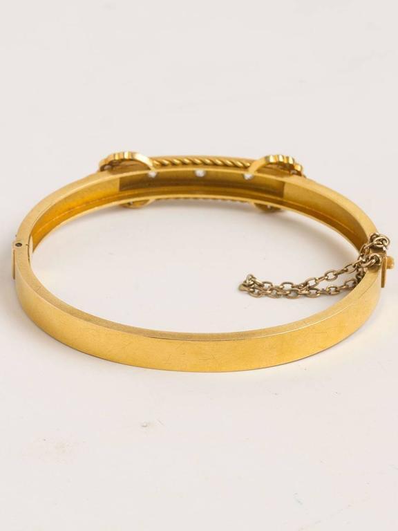 Victorian Diamond Gold Bangle Bracelet, circa Early 1900s 4