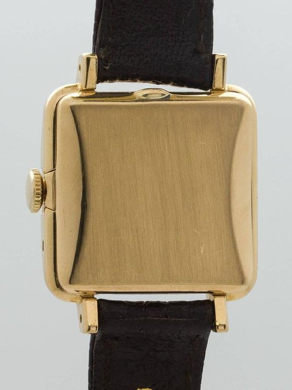 Women's Rolex Lady's Yellow Gold Square Bubbleback Wristwatch Ref 4663  For Sale