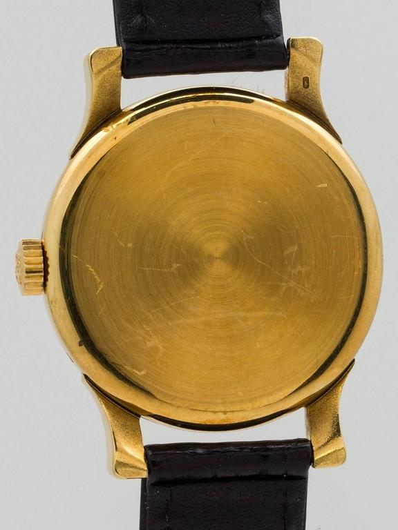 Women's or Men's Patek Philippe Yellow Gold Wristwatch Ref 1596  For Sale