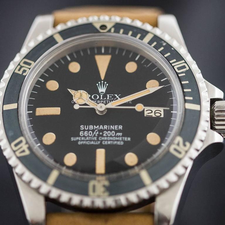 Rolex Stainless Steel Submariner Wristwatch Ref 1680 1977 1