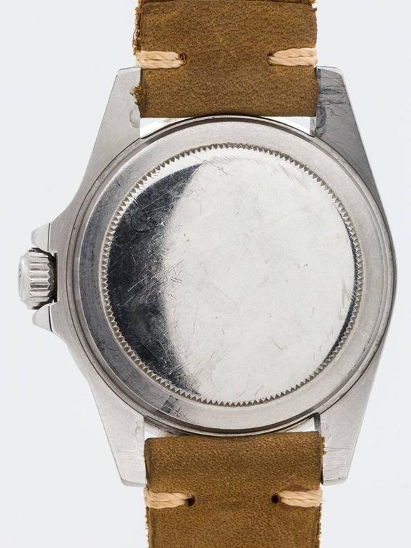 Women's or Men's Rolex Stainless Steel Submariner Wristwatch Ref 1680 1977