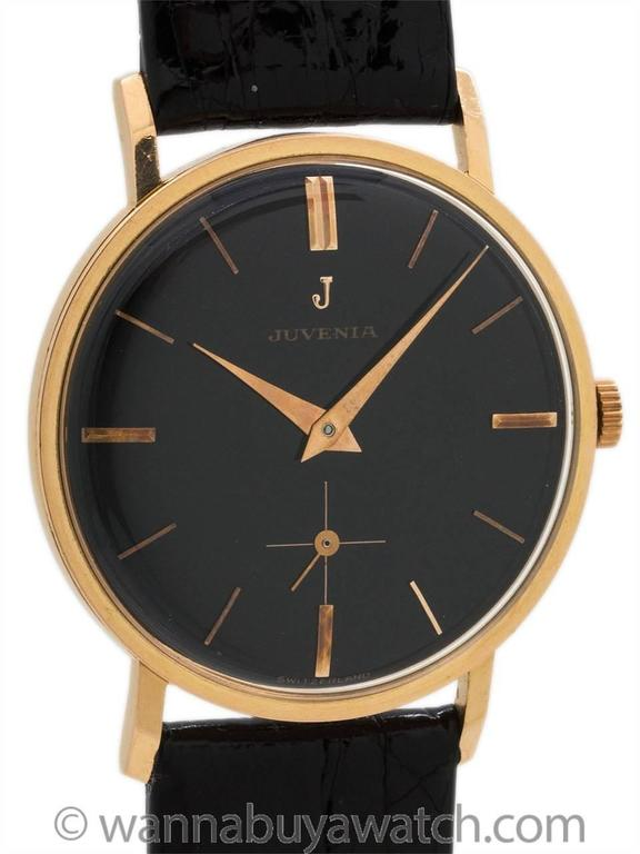 Modernist Juvenia Rose Gold Dress Model Wristwatch For Sale