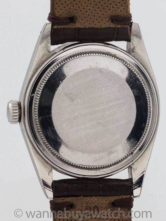 Rolex Stainless Steel Datejust Patina'd Dial Automatic Wristwatch Ref 16000 1978 In Excellent Condition For Sale In West Hollywood, CA