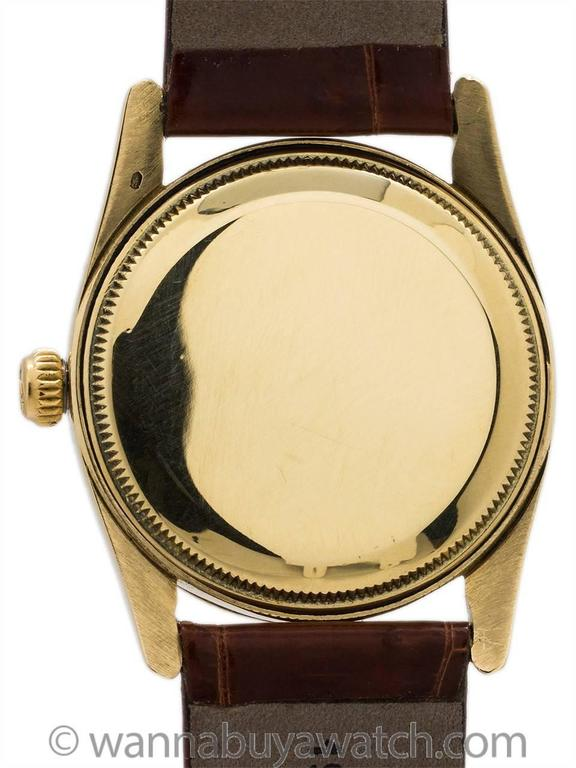 Rolex Yellow Gold Oyster Bombe Wristwatch Ref 6593 1956 4