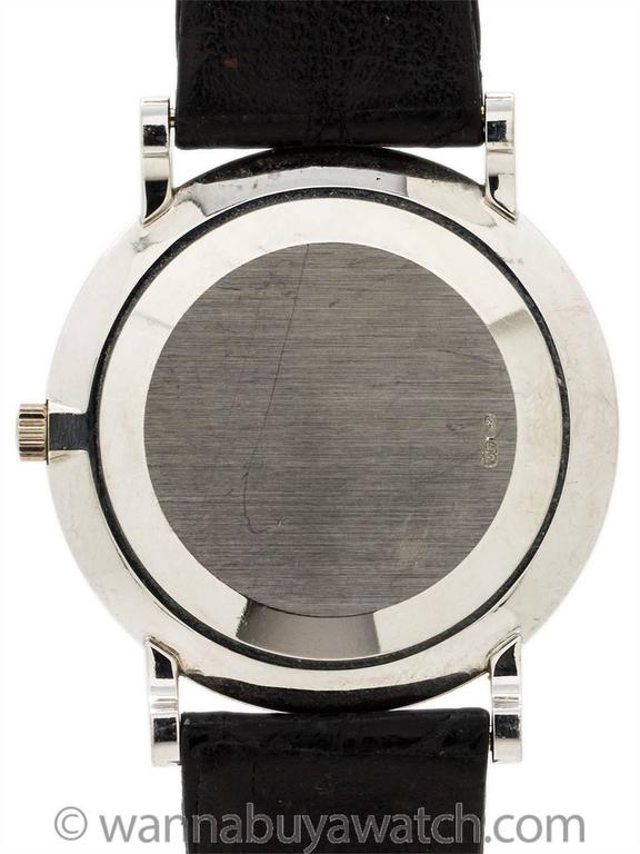 Patek Philippe White Gold Hobnail Bezel Manual Wind Wristwatch Ref 3919 In Excellent Condition For Sale In West Hollywood, CA