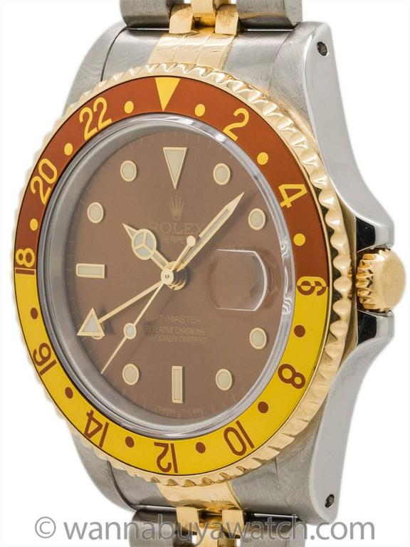Rolex GMT II ref# 16713 SS/18K YG circa 1991 2